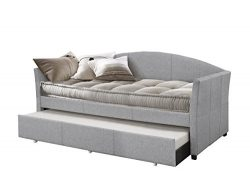 Hillsdale Furniture 2019DBTG Hillsadle Westchester Daybed with Trundle, Twin, Smoke Gray Fabric