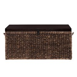 Water Hyacinth Storage Trunk – Blackwashed w/ Espresso