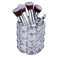 Makeup Brush Holders, Nesee Handcrafted Crystal Rotating Makeup Brush Holder Eyebrow Pencil Pen  ...
