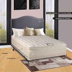 Continental Sleep 10″ Pillowtop Fully Assembled Othopedic Twin XL Mattress &4″ B ...