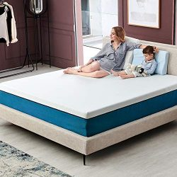 King Size Mattress, Molblly 10 inch Cooling-Gel Memory Foam Mattress in a Box, Breathable Bed Ma ...