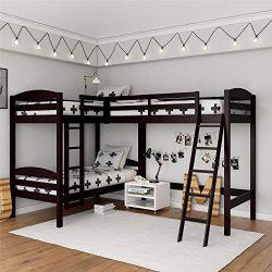 Dorel Living DL8794 Clearwater Triple, Espresso Bunk Beds,