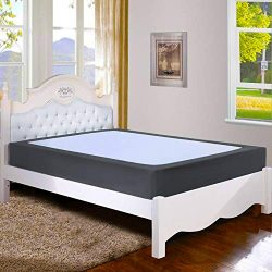 Twin Six Premium Box Spring Cover Update Bed Skirt Wrap Around Cover, Mattress Cover, King, Dark ...