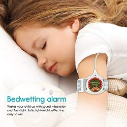 Bedwetting Alarm for Boys Girls Kids – Pee Alarm with Sound and Vibration to Cure Bed Wett ...