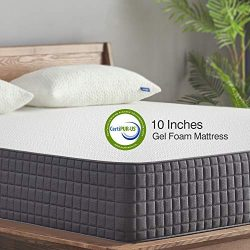 King Mattress, Sweetnight 10 Inch King Size Mattress-Infused Gel Memory Foam Mattress for Back P ...