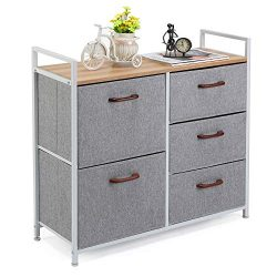 MaidMAX Storage Cube Dresser Home Dresser Storage Tower Constructed by Painted Steel, Wooden Top ...