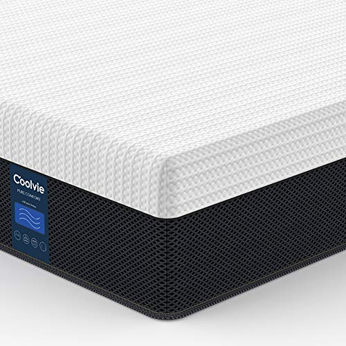 Twin Mattress Hybrid 10 inch, Coolvie Innerspring Mattress in a Box, Motion Isolation Pocket Coi ...