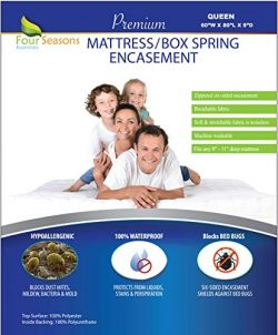 Zippered Queen Mattress/Box Spring Protector (8″-11″ Depth) – Bed Bug Waterpro ...