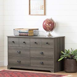 South Shore 12387 Volken 6-Drawer Double Dresser-Gray Maple