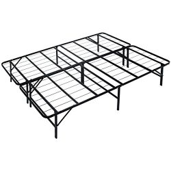 Naomi Home idealBase 14″ Platform Metal Bed Frame – Mattress Foundation – Box  ...