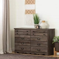 South Shore 11915 Prairie 8-Drawer Double Dresser, Fall Oak