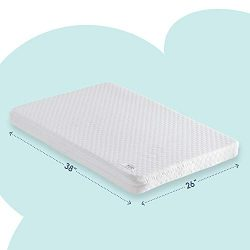 Pack n Play Mattress Pad [Dual Sided] with Firm Side (for Babies) & Soft Memory Foam Side (f ...