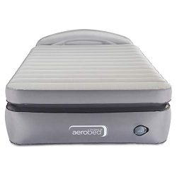 AeroBed Air Mattress with Built-In Pump & Headboard | Comfort Lock Laminated Air Bed, Full