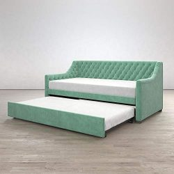 Little Seeds Ambrosia Diamond Tufted Upholstered Design Daybed and Trundle Set, Twin Size Frame, ...