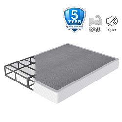 NOAH MEGATRON 7 Inch Box Spring Queen, Low Profile Metal Boxsprings/Mattress Foundation/Bunkie B ...