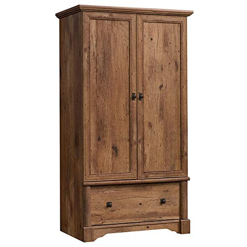 Pemberly Row Wardrobe Armoire in Vintage Oak