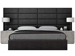 Vänt Upholstered Wall Panels – Queen/Full Size Wall Mounted Headboards – Cotton Weav ...