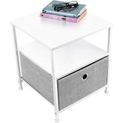 Sorbus Nightstand 1-Drawer Shelf Storage- Bedside Furniture & Accent End Table Chest for Hom ...