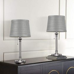 Oneach Rustic Table Lamp Set of 2 for Bedroom Living Room Office College Dorm Bedside Night Stan ...