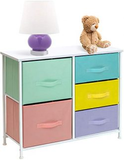 Sorbus Dresser with 5 Drawers Furniture Storage Tower Chest for Kid's, Teens, Bedroom, Nur ...