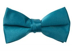 Spring Notion Boys' Pre-tied Banded Satin Bow Tie with Gift Box Small Teal