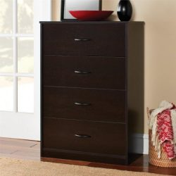 4-Drawer Chest Storage Office in Espresso