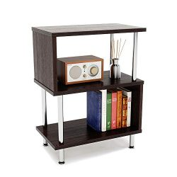 Bestier Side Table 3 Tier S-Shaped, Small Nightstand Bedside Table End Table with Storage Shelve ...