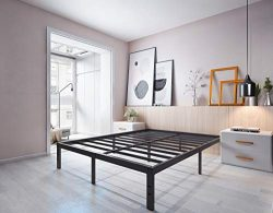 Homdock 14 Inch Metal Platform Bed Frame/Sturdy Strong Steel Structure 3000 lbs Heavy Duty/Noise ...