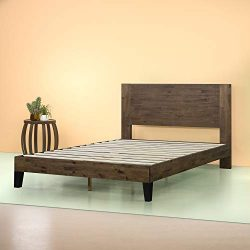 Zinus Tonja Platform Bed / Mattress Foundation / Box Spring Replacement / Brown, Queen