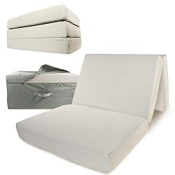 Portable Mattress – Folding Memory Foam Guest Fold Up Bed w/Case | Tri-Fold (6 Inch) Trave ...