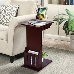 Shan-s Magazine Snack Table in Espresso Laptop Table Heavy-Duty Sofa Side End Table End Stand De ...