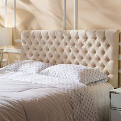 Christopher Knight Home 298903 Jezebel Fabric Queen/Full Headboard, Beige