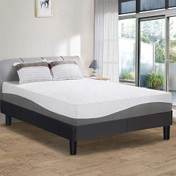 PrimaSleep 10 Inch Wave Gel Infused Memory Foam Mattress,Gray (King)