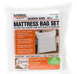 U-Haul Deluxe Mattress and Box Spring Bag Set for Moving and Storage Protection – 2.25 Mil ...