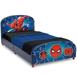 Delta Children Upholstered Twin Bed, Marvel Spider-Man