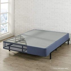 Best Price Mattress Queen Box Spring 9″ High Profile with with Heavy Duty Steel Slat Mattr ...