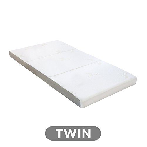 Milliard Tri Folding Mattress with Washable Cover, Twin (75 inches x 38 inches x 4 inches)