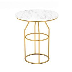 GWM Computer armoires Sofa Table, Home Marble Small Coffee Table Living Room Wrought Iron Round  ...