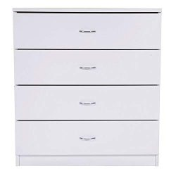 Qao 4-Drawer Dresser Wooden Chest Cabinet Bedroom Dresser for Closet to Storing Clothes,Ideal fo ...