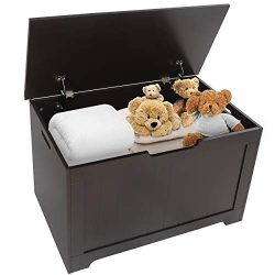 Super Deal Wood Modern Storage Bench Trunk 30 in. Wide Toy Chest Blanket Storage Chest Trunk Box ...