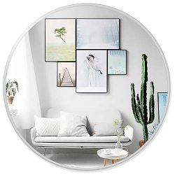 "PexFix 30"" Wall Round Mirror, Modern Iron Art Frame Circle Wall-Mounted Decorative Mirror  ..."