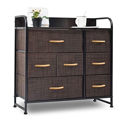 charaHOME Dresser Organizer with 7 Drawers, Fabric Dresser Storage Tower for Bedroom, Hallway, E ...