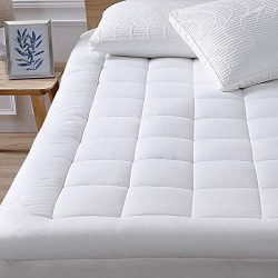 oaskys Queen Mattress Pad Cover Cooling Mattress Topper Cotton Top Pillow Top with Down Alternat ...
