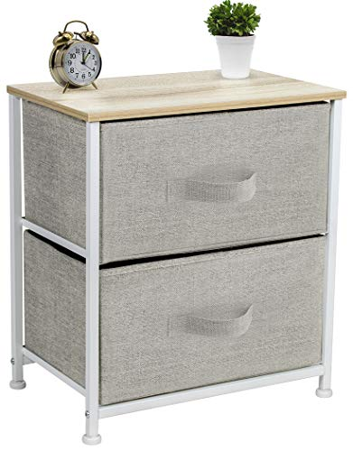Sorbus Nightstand with 2 Drawers – Bedside Furniture & Accent End Table Chest for Home ...