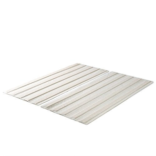 Zinus Annemarie Solid Wood Bed Support Slats / Fabric-Covered / Bunkie Board, King