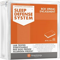 HOSPITOLOGY PRODUCTS Sleep Defense System – Zippered Box Spring Encasement – Twin &# ...
