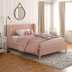 Little Seeds Monarch Hill Ambrosia Pink Full Size Upholstered Bed,
