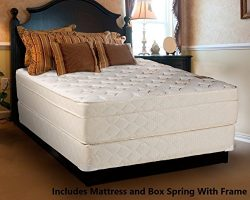 Mattress Solution 13-inch Fully Assembled Orthopedic Firm Mattress and Box Spring/Foundation Set ...