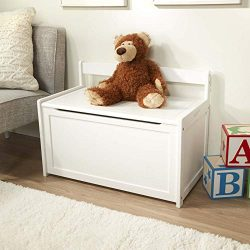 Melissa & Doug Wooden Toy Chest, Sturdy Wooden Chest (8.25 Cubic Feet of Storage, Easy to As ...