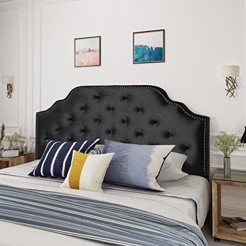 Christopher Knight Home Silas Velvet Full/Queen Headboard, Black